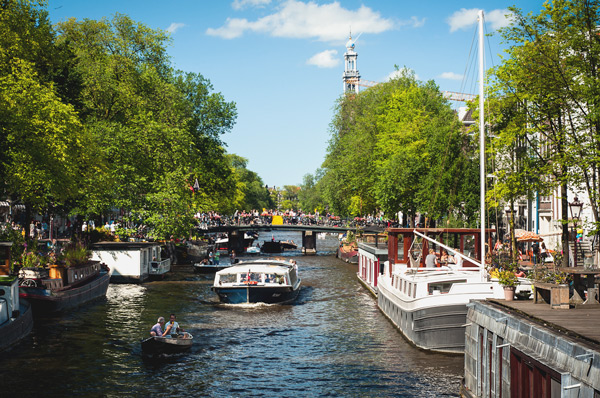 The Prinsengracht in Amsterdam