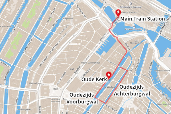 Map - Red Light District Amsterdam