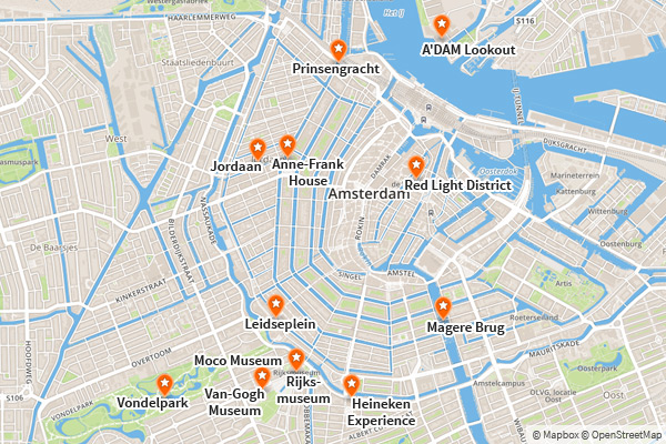 Map - Things to do in Amsterdam