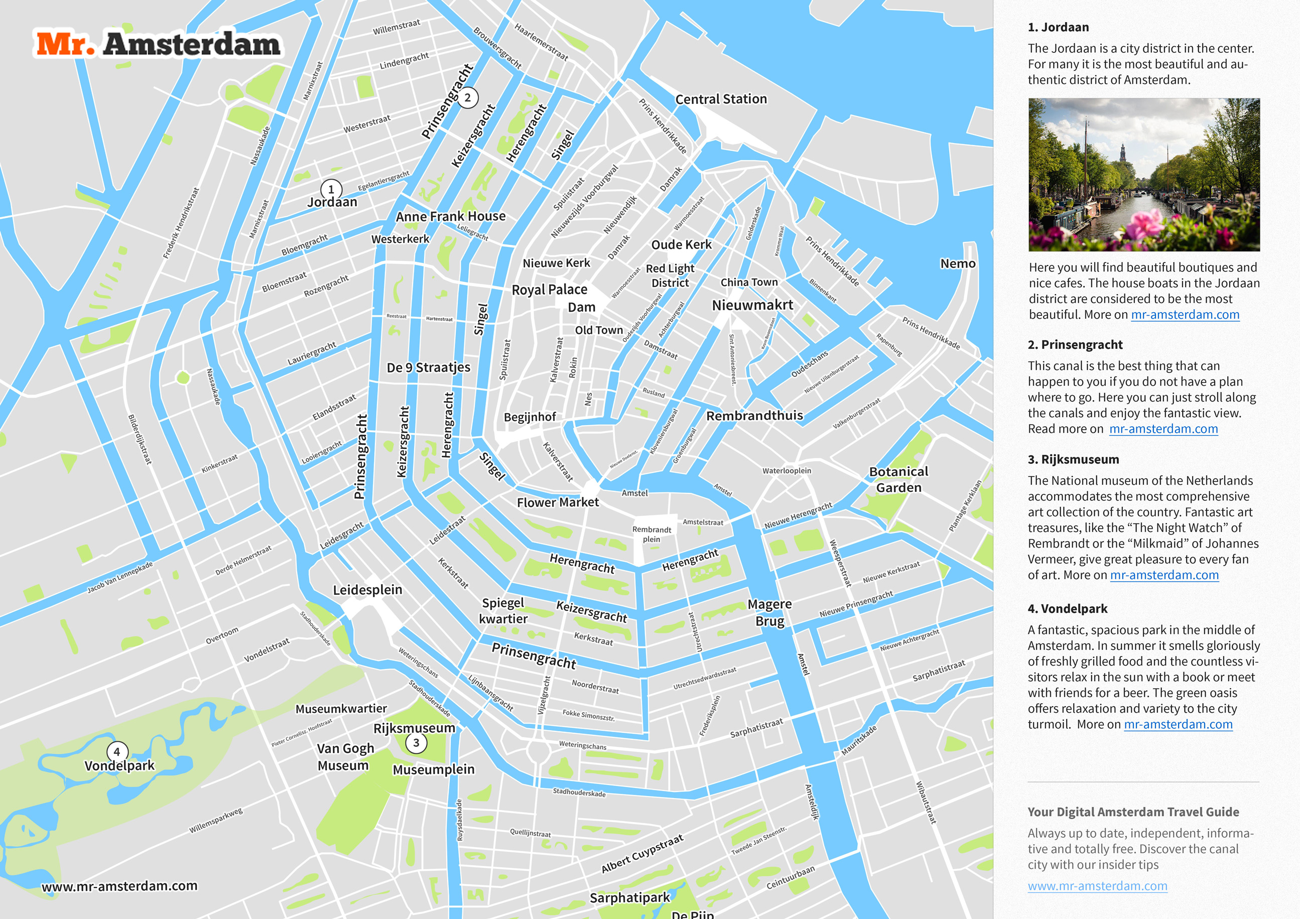 amsterdam tourist map free pdf sights streets at a. Black Bedroom Furniture Sets. Home Design Ideas